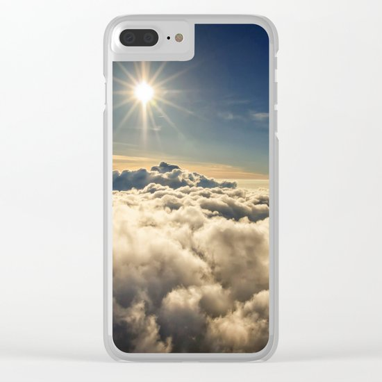 clouds (Above The Heavenly Clouds) Clear iPhone Case
