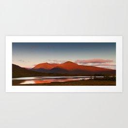 Rannoch Moor panorama Art Print