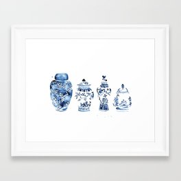 Ginger Jar Collection print Framed Art Print