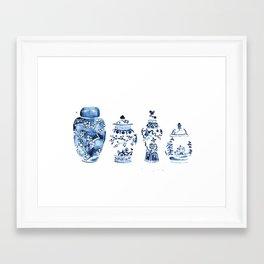Ginger Jar Collection print Framed Art Print
