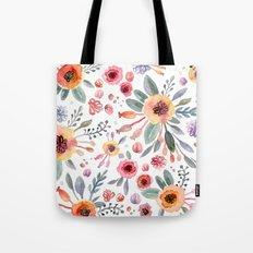 flower watercolor 2 Tote Bag