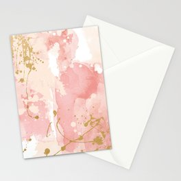 Abstract pink painting Stationery Cards