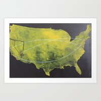 Here & There (America) Art Print