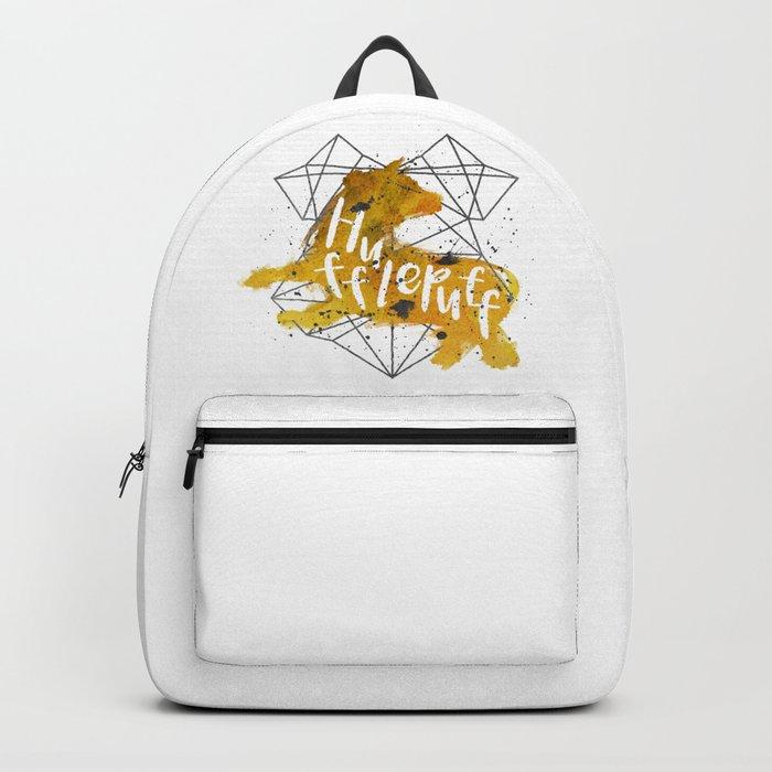 Hufflepuff Black Splatter Backpack