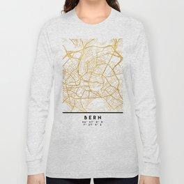 BERN SWITZERLAND CITY STREET MAP ART Long Sleeve T-shirt