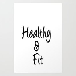 Healthy & Fit Collection Art Print