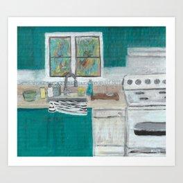 Empty Kitchen Sink Art Print
