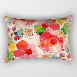 joyful floral decor Rectangular Pillow