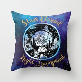 A Court of Mist and Fury - Stars Eternal Night Triumphant Throw Pillow