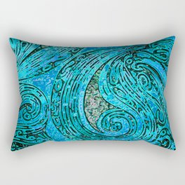 Chanting Blue Loon Rectangular Pillow