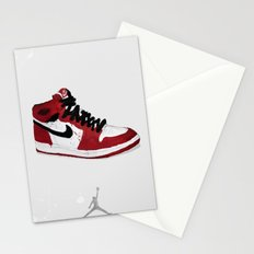 Nike Air Force 1 - Retro - Red & Black & White Stationery Cards