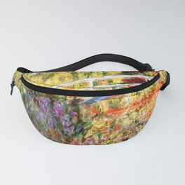"""Claude Monet """"Water lily pond, water irises"""" Fanny Pack"""