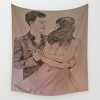 """witchcraft Wall Tapestries featuring """"Witchcraft"""" - Fifty Shades of Grey by Virginieferreux"""