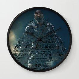 Sam Wilson Falcon Typographic Wall Clock