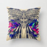 phoenix Throw Pillows featuring PHOENIX by Galvanise The Dog
