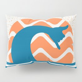 Hang Loose Wave // Sun Surfer Shaka Beach Retro Graphic Design Horizontal Daze Waves Pillow Sham