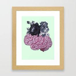 Les caliss d'idées noires Framed Art Print