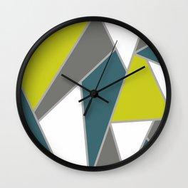 Geometric Teal Line Pattern Wall Clock