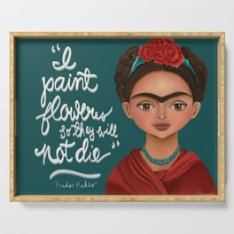 Frida Quote Serving Tray