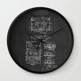 Magazine Tape Recorder Patent Wall Clock