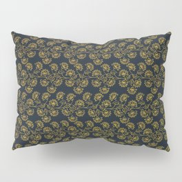Georgian Floral in Black and Gold Pillow Sham