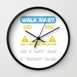 Walk Away This Able Seaman Has Anger Issues Merchant Ship Watchstander Sea Ocean Marine Gift Wall Clock