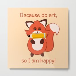 Commisions | foxy artist Metal Print