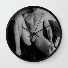 Relaxed Male Nude Wall Clock