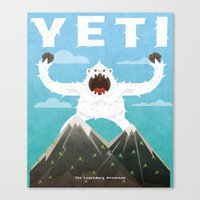 yeti Canvas Prints featuring Yeti by Artificial primate