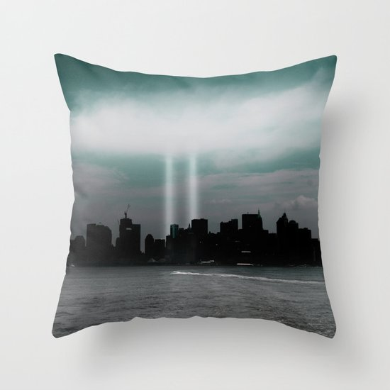 Renewal - New York City skyline Throw Pillow