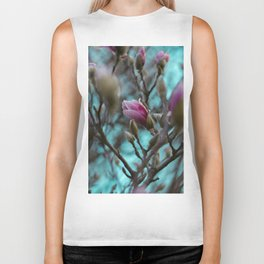 magnolia in bloom #society6 #decor #buyart Biker Tank