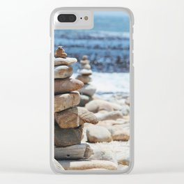 Stacked stones, South Africa Clear iPhone Case