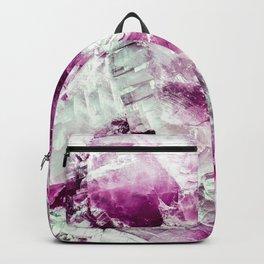 Garnet crystal detail Backpack
