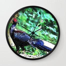 Swinhoe's pheasant Wall Clock