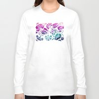 vintage floral Long Sleeve T-shirts featuring Vintage Floral by Jacqueline Maldonado