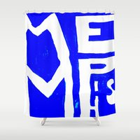 memphis Shower Curtains featuring MEMPHIS by John Weeden