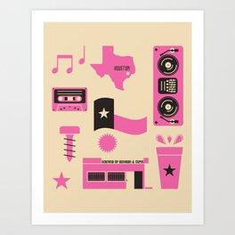 DJ Screw Movement Art Print