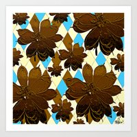 magnolia Art Prints featuring Magnolia  by Saundra Myles