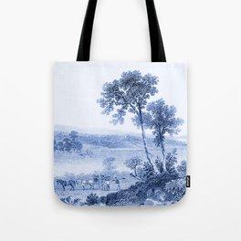 Lake Champlain 1850 (Cyan Blue) Tote Bag