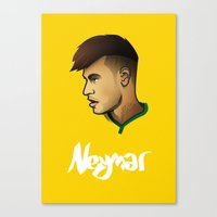 neymar Canvas Prints featuring Neymar Brazil by Dave Flanagan