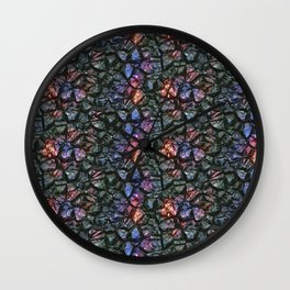 Black crystal gem wall Wall Clock