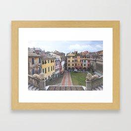 ITALY STREETS Framed Art Print