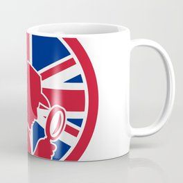 British Private Investigator Union Jack Flag Icon Coffee Mug