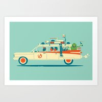 party Art Prints featuring Party in the Back by Jay Fleck