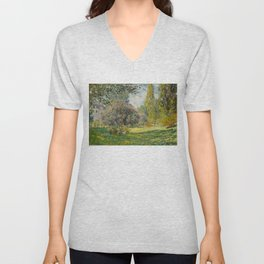 The Parc Monceau - Claude Monet  Unisex V-Neck