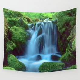 Waterfall in the forest Wall Tapestry