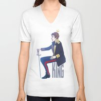 benedict V-neck T-shirts featuring Benedict Cumberbatch - Hamlet by enerjax