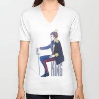 enerjax V-neck T-shirts featuring Benedict Cumberbatch - Hamlet by enerjax