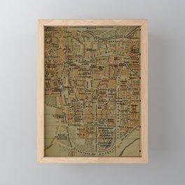 Vintage Clermont-Ferrand France Map (1895) Framed Mini Art Print
