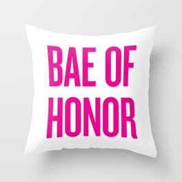 Bae Of Honor - Wedding Bridesmaid Bachelorette Party Design Throw Pillow